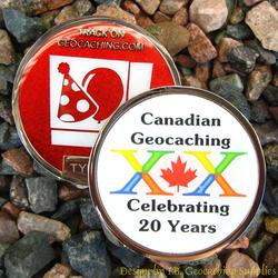 20 Years of Canadian Geocaching - Nickel Geocoin