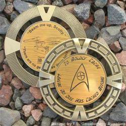 Cache Trek - The Cacherprise Geomedal Geocoin