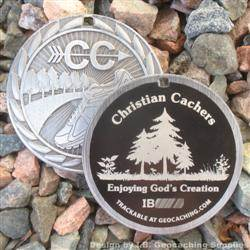 Christian Cachers - Enjoying God's Creation - Antique Silver Version