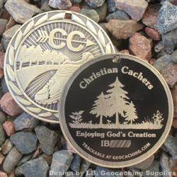 Christian Cachers - Enjoying God's Creation - Antique Gold Version