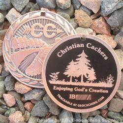 Christian Cachers - Enjoying God's Creation - Antique Bronze Version