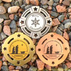 Christmas Shepherds Geomedal Geocoin Trio