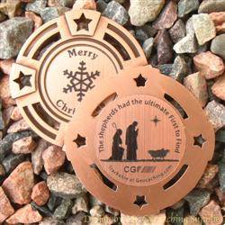 Christmas Shepherds Geomedal Geocoin