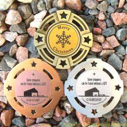 Christmas Stable Geomedal Geocoin Trio