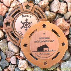 Christmas Stable Geomedal Geocoin