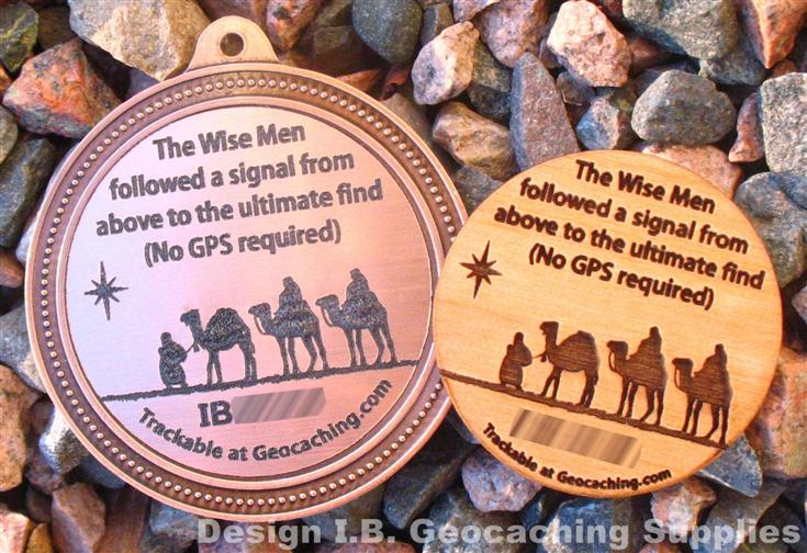 Geocoin Geomedals Christmas Magi No Gps Required