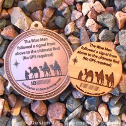 Christmas Magi - Trackable Geomedal / Wooden Nickel Pair