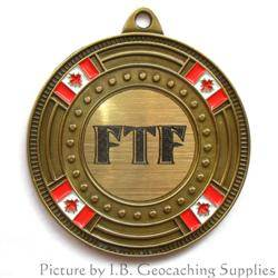 FTF (First to Find) Canada Flag Geomedal Geocoin
