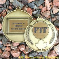 FTF (First to Find) Canadian Maple Leaf Geomedal Geocoin