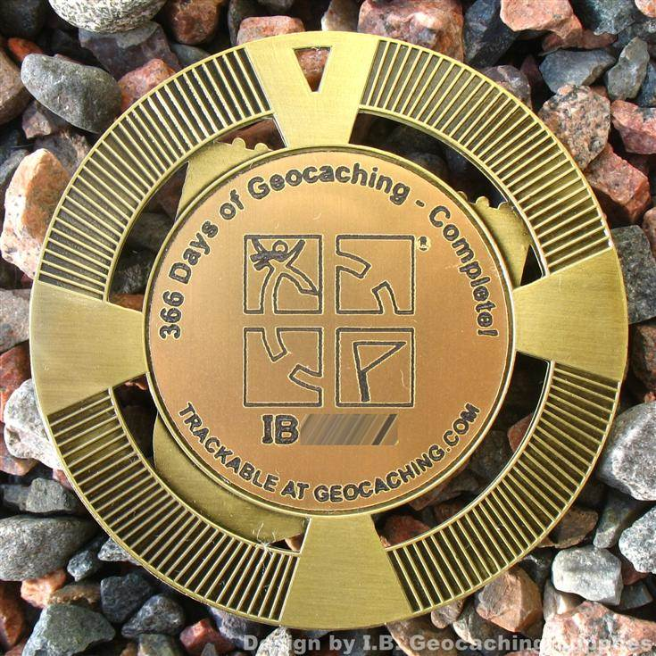 """2.5/"""" GeoMedal Geocoin, Ant. Gold Colour Beam Me Up No Geocaches Here!"""