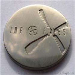 The G-Files - Antique Silver Bare Metal Geocoin