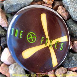 The G-Files - Black Nickel Geocoin with Orange Glow