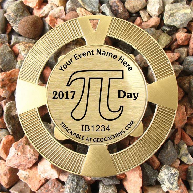 Pi Day Event Geomedal Geocoin and Trackables