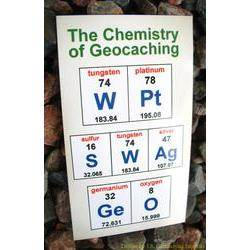 Chemistry of Geocaching - WPt GeO SWAg Magnet