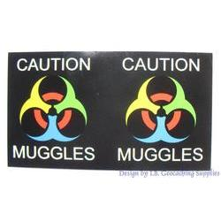 Caution - Muggles Small Magnets