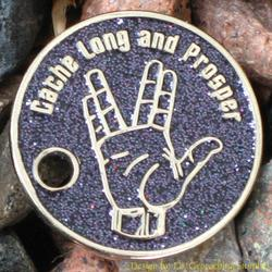 Cache Long and Prosper PathTag - Nickel Glitter Version