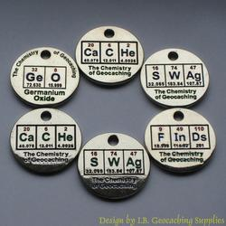 GeOCaCHe SWAg FInDs: Chemistry of Geocaching PathTag Set of 6