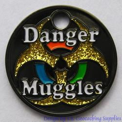 Danger Muggles PathTag - Black Nickel Glitter Version