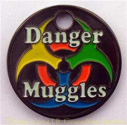 Danger Muggles PathTag - Black Nickel Glow Version