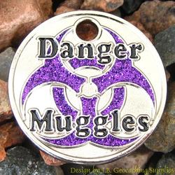 Danger Muggles PathTag - Nickel Purple Glitter Version