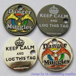 Danger Muggles PathTag Pair - Nickel and Black Nickel Glitter Versions