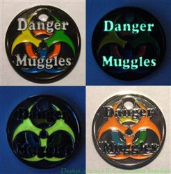 Danger Muggles PathTag Pair - Nickel and Black Nickel Glow Versions