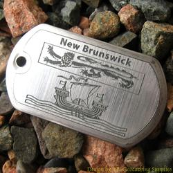 Canadian Provinces - New Brunswick Flag Trackable Dog Tag