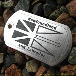 Canadian Provinces - Newfoundland and Labrador Flag Trackable Dog Tag