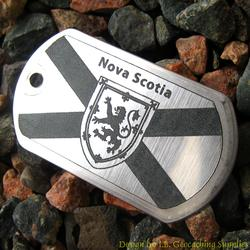 Canadian Provinces - Nova Scotia Flag Trackable Dog Tag
