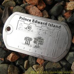 Canadian Provinces - PEI Flag Trackable Dog Tag