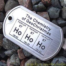 Ho Ho Ho - The Chemistry of GeoChristmas Trackable Dog Tag