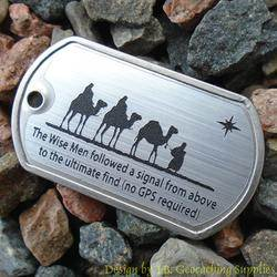 Christmas Magi Trackable Dog Tag