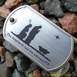 Christmas Shepherds Trackable Dog Tag