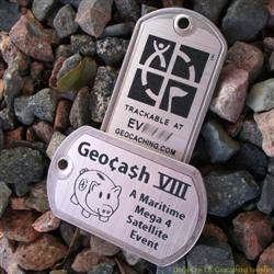 Geocash VIII Trackable Trackable Dog Tag