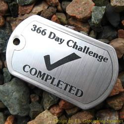 366 Days of Geocaching Dog Tag