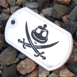 Pirate Signal Flag Trackable Dog Tag