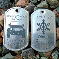 Winterzied Cachemobile Trackable Dog Tag