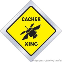 Cacher Crossing Window Cling