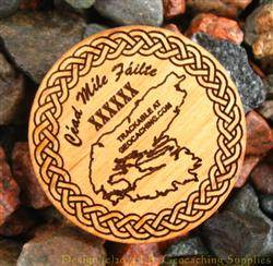 Cape Breton Island - 1-Sided Trackable Wooden Nickel