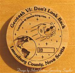Geocash VI Event - 1-Sided Trackable Wooden Nickel