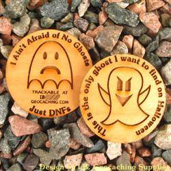I Ain't Afraid of No Ghosts - 2-Sided Trackable Wooden Nickel