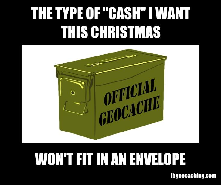 The type of cash I want for Christmas won't fit in an envelope.