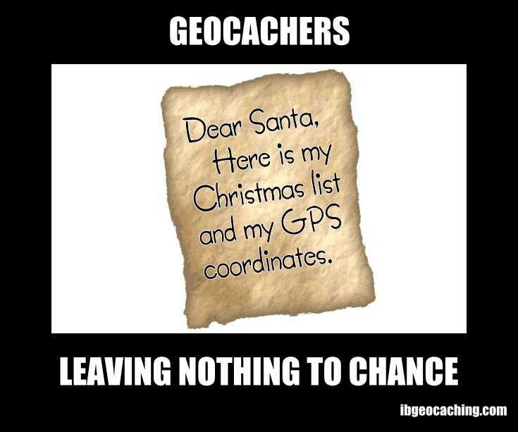 Dear Santa, here is my Christmas list and GPS coordinates.
